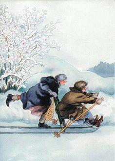 Finland - Inge Look sledding