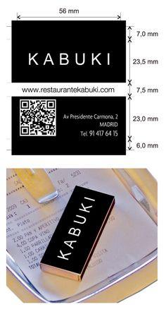 Propuesta Caja de Cerillas para Restaurante Kabuki en Madrid.