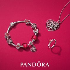 Make a loving statement with the vibrant colors of pinks and reds from the New Valentine's collection from PANDORA. #KelleyJewelers #DowntownWeatherfordOK #Pandora