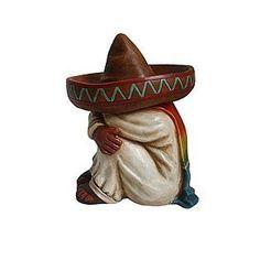 Siesta Southwestern Spanish Mexican Sombrero Garden Mantel Patio Statue  Cinco | EBay