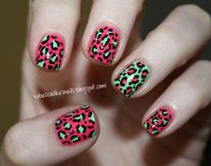 nail art animal print colores - Buscar con Google