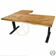 UpLift 950 Electric Sit-Stand L-Shaped Solid Wood Desk   Shop UpLift Standing Desk and Adjustable Height Desks