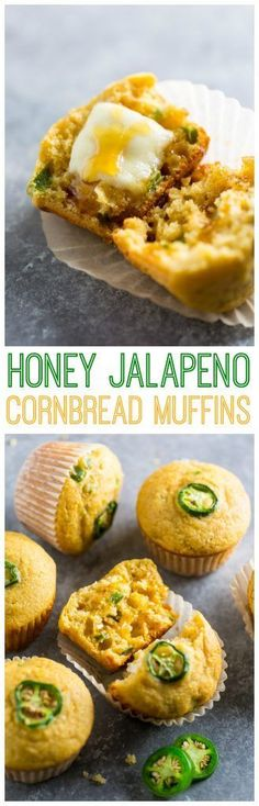 Honey Jalapeno Cornbread Muffins are sweet just a little but spicy and SO flavorful! Honey Jalapeno Cornbread Muffins are sweet just a little but spicy and SO flavorful! Jalapeno Cornbread Muffins, Corn Muffins, Honey Cornbread, Cornbread Recipes, Mexican Food Recipes, Dinner Recipes, Tortilla Recipes, Jalapeno Recipes, Breakfast Recipes