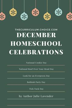 December Homeschool Celebrations - The Curriculum Choice