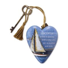 Studio by DEMDACO Art Heart Discovery by Danny Phillips 1003480014 Sail Boat