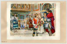 illustration originale (1984) - Au Temps des Royaumes barbares - La Vie privée des Hommes - Pierre Joubert