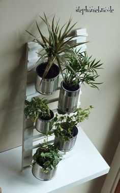 DIY Deco Recycling: Create a ladder for hanging plants # Hang # # # # # # # # # # - -
