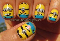 Despicable Me 2 Minion nails
