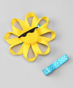 Take a look at this Yellow Sun In Shades Clip Set by Hair Flair on #zulily today!