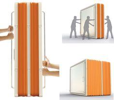 Los diseñadores Ye Haoyu, Shen Yiqing y Zhang Hao han creado una tienda de campaña con forma de acordeón para que sirva de refugio a la...