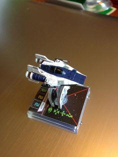 Sleek A-Wing repaint. Star Wars X Wing Miniatures Game