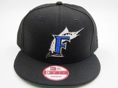 Miami Marlins Black 9FIFTY MLB Authentic New Era Snapback Hat #NewEra…