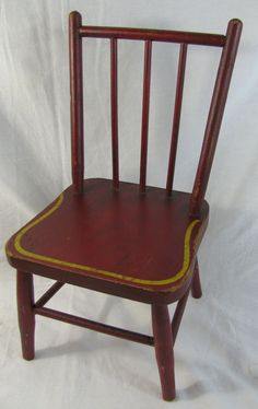 Antique Painted Primitive Childu0027s Chair & 98 best Antique/Vintage Childu0027s Chair images on Pinterest | Armchair ...