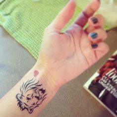 Small Lion Tattoo Hand More