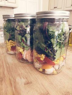 Fresh Mama Fitness and Health: 21 Day Fix Honey-Lime Shrimp Mason Jar Salad