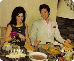 The Presleys dining