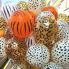 28b5b3a31e18 10pcs 12inch Balloons Cow Tiger Zebra Paw Leopard Pattern Birthday Party  Decorat #Kuchang #MothersDayBirthdayParty