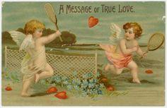 San Valentín Postal: Ángeles jugando a tenis