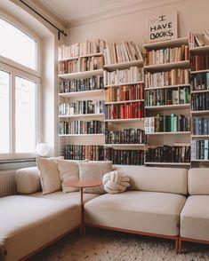 Bookcase, Living Room Sofa, Shelves, New Dress, Personal Library, Comfy, Places, Interior, Home Decor