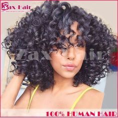 93.88$  Buy here - http://alio9h.worldwells.pw/go.php?t=32405432515 - Unprocessed Human Hair Full Lace Wigs Human Hair Virgin Curly Full Lace Wigs 7A Short Natural Hairline Full Lace Human Hair Wigs 93.88$