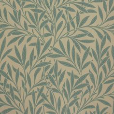 Willow by William Morris. The Original Morris & Co - Arts and crafts, fabrics and wallpaper designs by William Morris & Company William Morris Wallpaper, Morris Wallpapers, Fabric Wallpaper, Wallpaper Roll, Beige Wallpaper, Leave Pattern, Stoff Design, Feature Wallpaper, Painted Rug