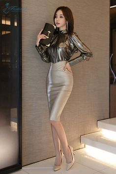 97 Best and Stylish Business Casual Work Outfit for Women Hot Outfits, Classy Outfits, Sexy Dresses, Fashion Dresses, Sexy Rock, Looks Chic, Leather Dresses, Girl Fashion, Womens Fashion
