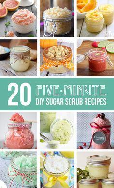 20 5-minute DIY Sugar Scrub Recipes | via Make It and Love It
