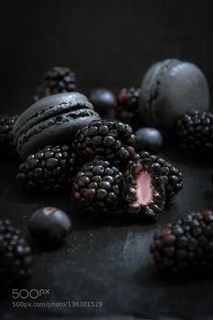 Blackberry macarons. by simondugast