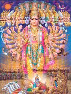 "Bhagavad Gita(Hindu)- The Hindu holy book the ""song of the Lord"". It is a verse Hindu scripture. Lord Vishnu, Deus Vishnu, Lord Shiva, Lord Ganesha, Krishna Love, Krishna Art, Krishna Krishna, Krishna Painting, Krishna Avatar"