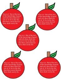 "Adam and Eve ""Printable Apple Stickers"""