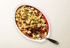 stuffing is made with crisp apples, hearty sausage, and golden raisins ...