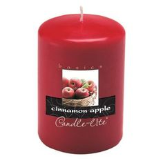 """Fortune Products Candle-Lite Cinnamon Pillar Candle (Set of 2) Size: 4"""" H x 2"""" W x 2"""" D"""