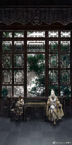 Fantasy Art Men, Anime Fantasy, Ancient China, Ancient Art, Chinese Architecture, Anime Scenery, Fantasy Landscape, Chinese Art, Manga Art