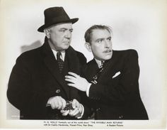 """universalmonsterstribute: """"Cecil Kellaway and Cedric Hardwicke in The Invisible Man Returns """" Actor Secundario, Invisible Man, Classic Horror Movies, Classic Monsters, Universal Studios, Classic Hollywood, Basil, Actors, Actor"""