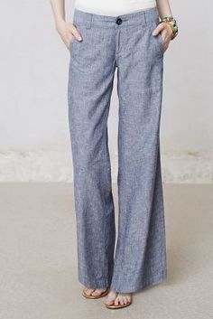Pilcro Linen Wide-Legs  Anthropologie