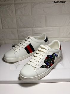 08edae69ef0 Gucci ace sneakers crystal snake white leather shoes top