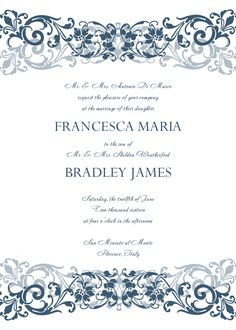 Create  Wedding Invitation Templates Designs
