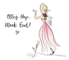 Het is weekend Bon Weekend, Hello Weekend, Happy Weekend, New Week Quotes, Chillout Zone, Allez Hop, Cute Disney, Illustrations And Posters, Cute Illustration