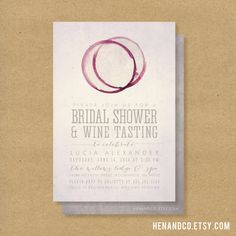 WINE TASTING Bridal Shower Invitation  Printable  by HENANDCO, $16.00 // winery wine tasting vineyard wedding shower