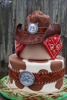 Cowboy Birthday Cake! Any boy's dream cowboy cake.                              …