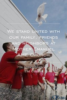 We stand united with our family, friends and neighbors at Mother Emanuel AME Church
