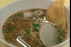Tom Yum Rice Noodle Soup.