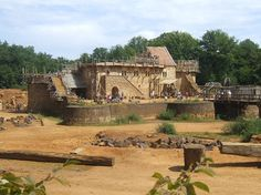 Guedelon Castle-- A castle being built with only the resources and tools available in the 13th century. Treigny, France