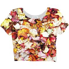 Fall Leaves Crop Top ($25) ❤ liked on Polyvore featuring tops and crop top