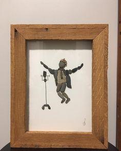 SINGER. . . . #wendyspebblepeople #pebbles #pebble #pebblepeople #art #artist #unique #artwork #rocks #pebbleart #artistsoninstagram #lakecountry #bc #singer #singing