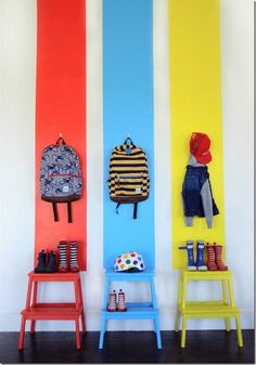 Choosing children& wardrobes and wardrobes correctly and stylishly .- Kinderkleiderschrank und Garderobe richtig und stilvoll auswählen ▷ Select the children& wardrobe and wardrobe correctly and stylishly - Kids Room Furniture, Furniture Design, Hacks Ikea, Ikea Bekvam, Childrens Wardrobes, Box Shelves, Painting For Kids, Interior Paint, Wall Collage