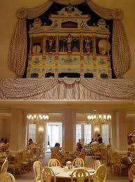 """At Disney's Grand Floridian Resort & Spa for the character breakfast held at 1900 Park Fare with characters that included Mary Poppins & Cinderella.  Inside is """"Big Bertha"""", an organ that was built in Paris in the late 1800's (instruments include pipes, drums, bells, cymbals, castanets & a xylophone - and are played by a piano-roll score)."""