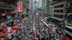 Impressive 58sec timelapse video shows hundreds of thousands of Hong Kong residents as they stage a massive pro-democracy march on Tuesday 1 July 2014 - one of the territory's biggest protests. Heavy rain did not deter these people. #HongKong #China #democracy #protests
