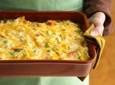 Rotel Mexican Chicken Casserole - Note: I prefer this casserole with American Cheese. You can buy a chunk of this cheese at your local deli
