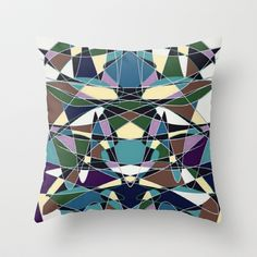 Stained Glass 4 Throw Pillow by SKCreations, LLC - $20.00